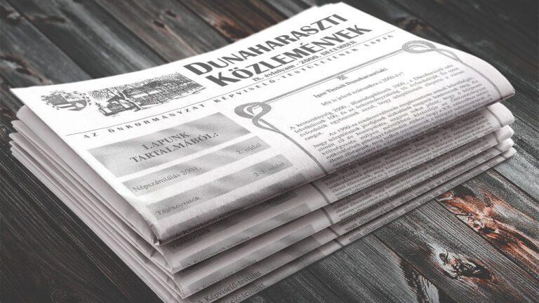 Időkapu: Dunaharaszti Közlemények – 2000 december