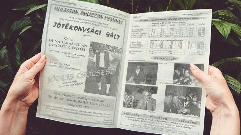 Időkapu II. Dunaharaszti közlemények – 2000 január